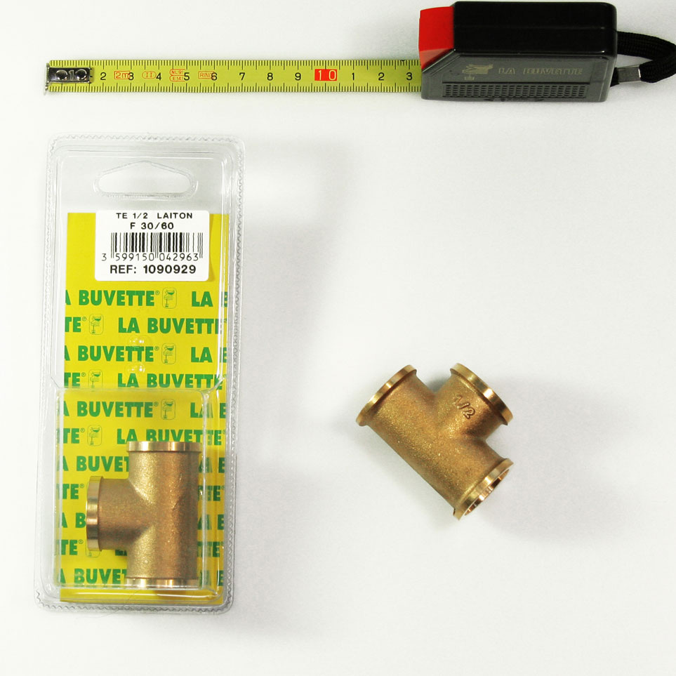 T CONNECTION 1/2 BRASS FFF BLISTER PACK