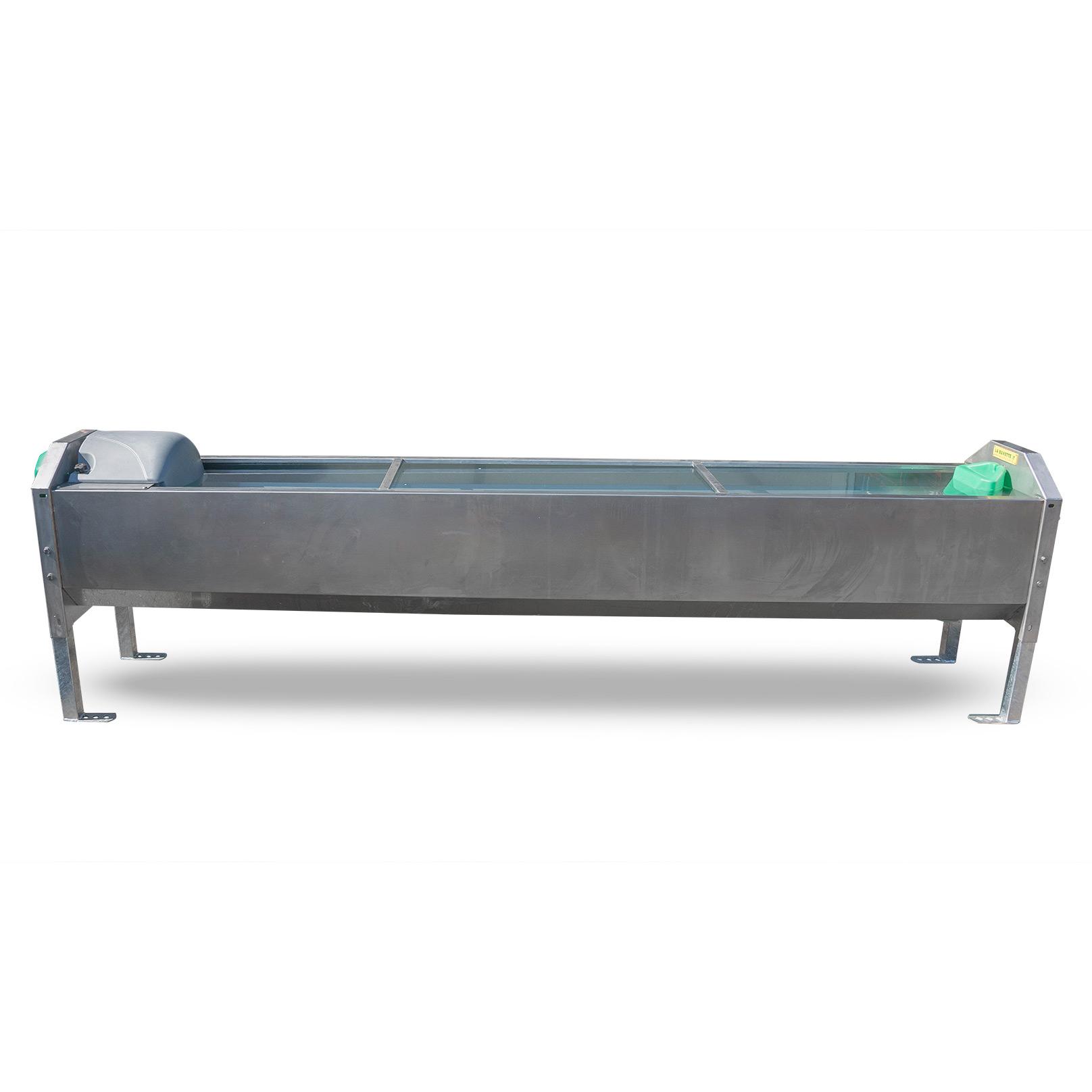 GV300 XL Bebedero de acero inoxidable de gran desague para vacas lecheras