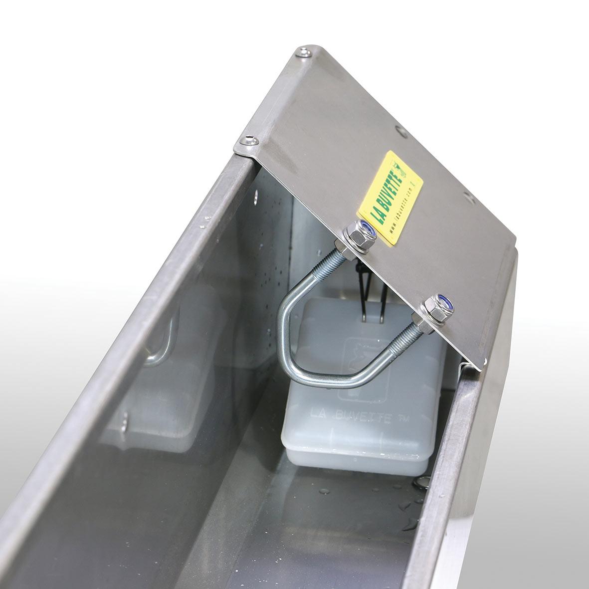 OVICAP INOX 240 bebedero de acero inoxidable