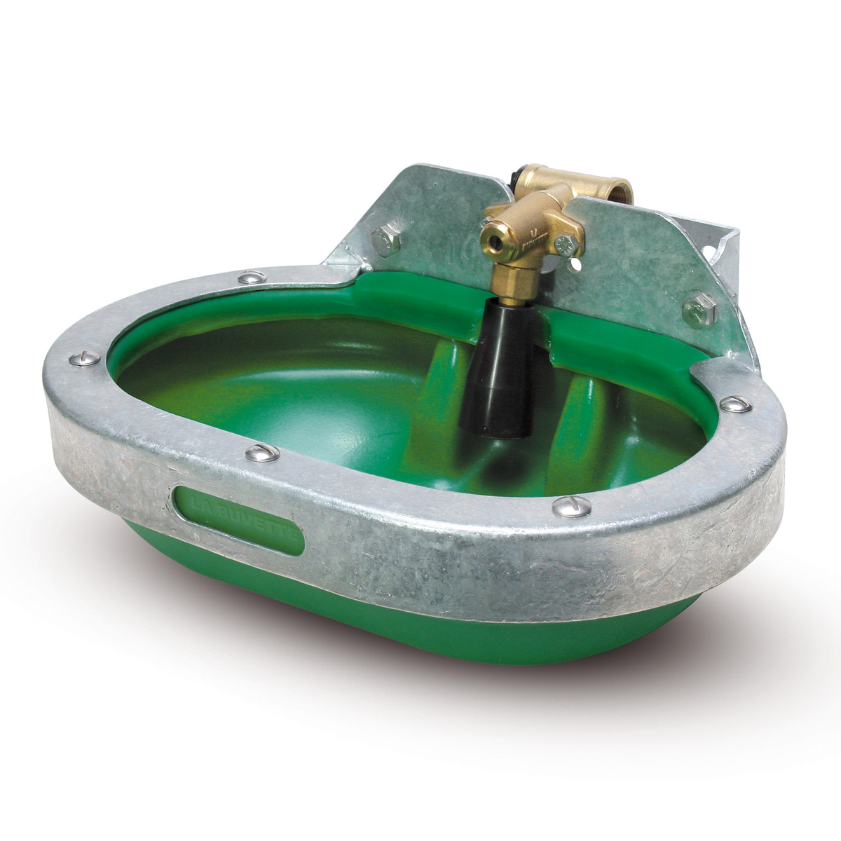 F40 Non-spill HDPE drinker with full metal protection